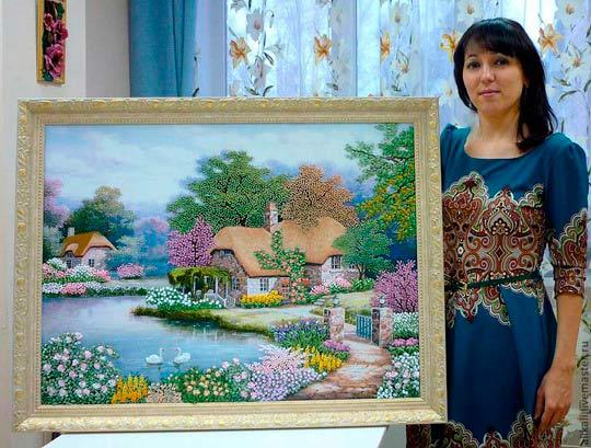 Елена дзюба вышивка картин лентами 13