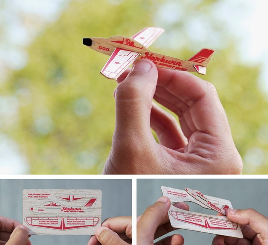 Креативная визитка-самолет