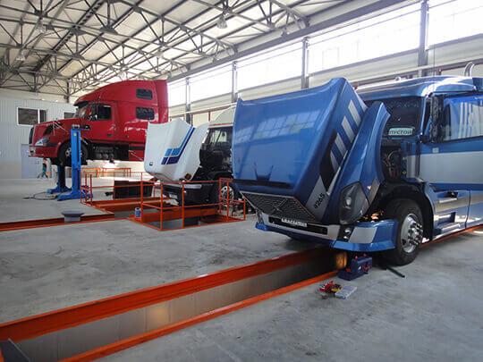 Ремонтная мастерская транспортной компании