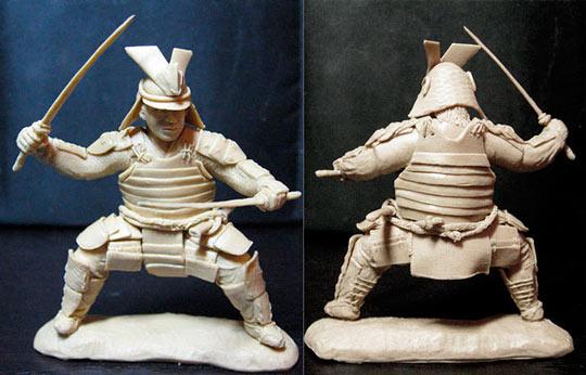 Скульптуры из пластилина: самурай