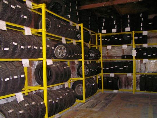 Сезонное хранение шин: гараж для хранения