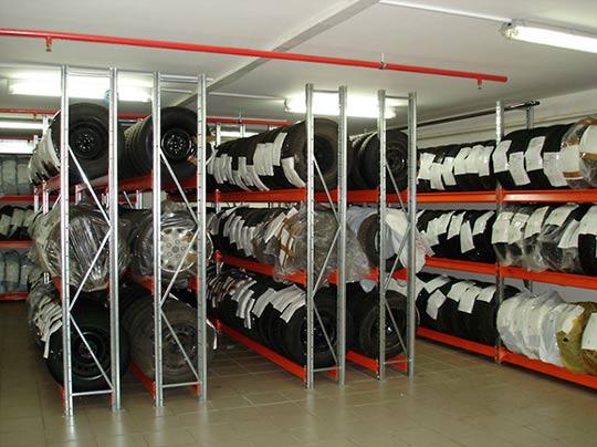 Сезонное хранение шин: помещение для хранения