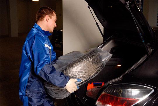 Сезонное хранение шин: упаковка для хранения