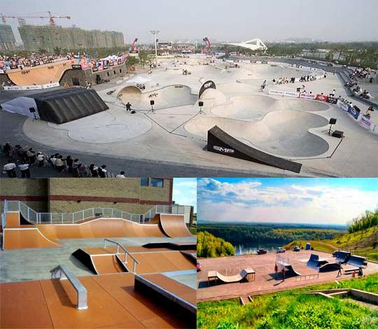 Виды скейт-парков