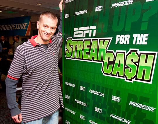 Приложение ESPN Streak for the Cash