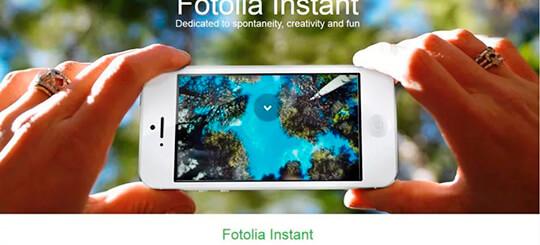 Приложение Fotolia Instant