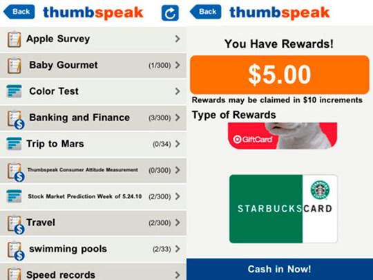 Приложение Thumbspeak