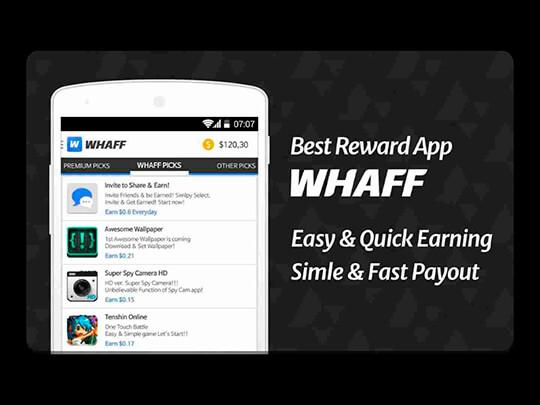 Приложение Whaff Rewards