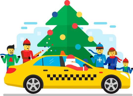 Идея новогоднего такси
