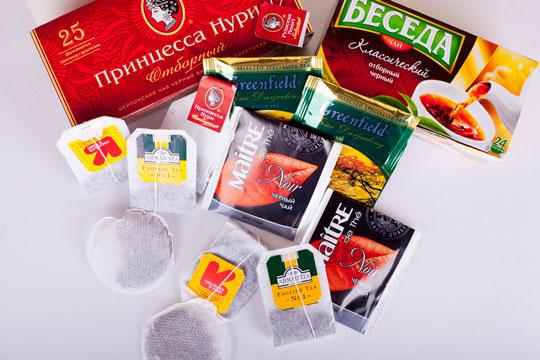 Известные чайные марки пакетиков