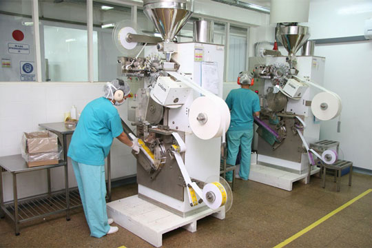 Технология производства чая в пакетиках